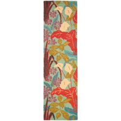 Safavieh Handmade Blossom Blue Wool Runner Rug (2'3 x 8')