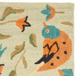 Safavieh Handmade Blossom Swallow Sage Wool Rug (2'3 x 8') - Thumbnail 1