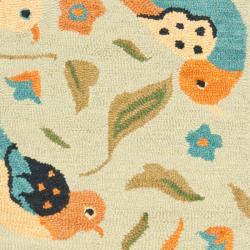 Safavieh Handmade Blossom Swallow Sage Wool Rug (2'3 x 8') - Thumbnail 2
