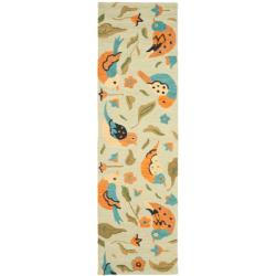 Safavieh Handmade Blossom Swallow Sage Wool Rug (2'3 x 8')