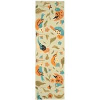 "Safavieh Handmade Blossom Swallow Sage Wool Rug - 2'3"" x 8'"