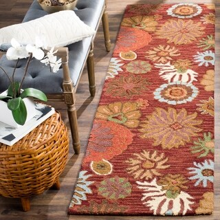 Safavieh Handmade Blossom Red Wool Rug (2'3 x 8')