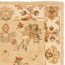 Safavieh Handmade Farahan Khaki/ Ivory Hand-spun Wool Rug (3' x 5') - Thumbnail 1
