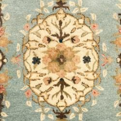 Safavieh Handmade Bliss Light Blue/ Ivory Hand-spun Wool Rug (3' x 5') - Thumbnail 2