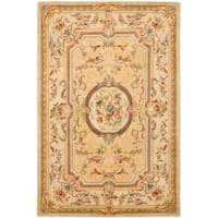Safavieh Handmade Light Gold/ Beige Hand-spun Wool Rug - 9'6 x 13'6