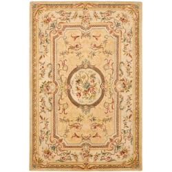 Safavieh Handmade Light Gold/ Beige Hand-spun Wool Rug (9'6 x 13'6)
