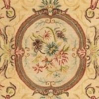 """Safavieh Handmade Light Gold/ Beige Hand-spun Wool Rug - 9'6"""" x 13'6"""""""