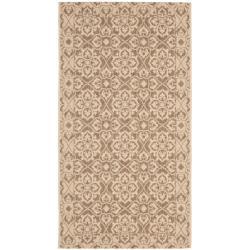 Safavieh Courtyard Elegance Brown/ Cream Indoor/ Outdoor Rug (2'7 x 5')