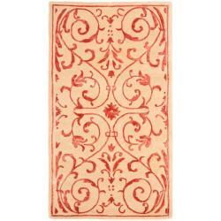 Safavieh Handmade Zen Bouquet Beige/ Rust Wool and Silk Rug (3' x 5')