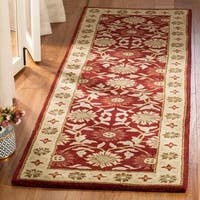 "Safavieh Handmade Heritage Timeless Traditional Red/ Beige Wool Rug - 2'3"" x 14'"