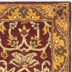 Safavieh Handmade Golden Jaipur Burgundy/ Gold Wool Rug (2'3 x 14') - Thumbnail 1