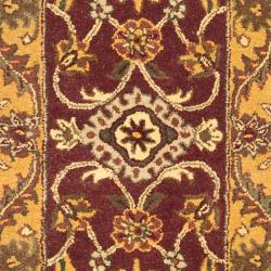 Safavieh Handmade Golden Jaipur Burgundy/ Gold Wool Rug (2'3 x 14') - Thumbnail 2