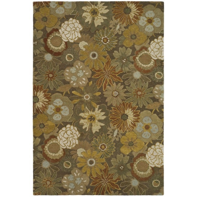 Safavieh Handmade Soho Gardens Brown New Zealand Wool Rug - 8'3 x 11'
