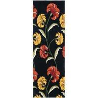"Safavieh Handmade New Zealand Wool Botanical Black Rug - 2'6"" x 8'"