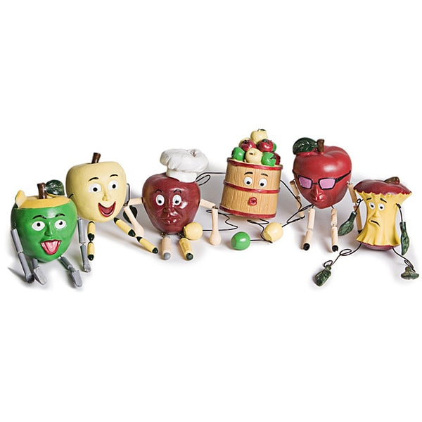 Whimsical Resin Apple People Kitchen Decor