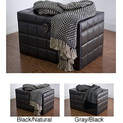 Rizzy Home Heavy Tight Weave Acrylic Throw