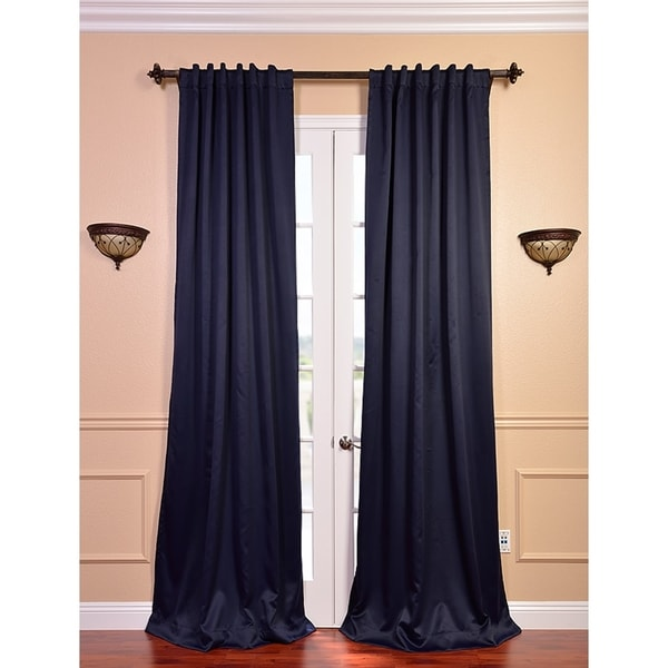 Exclusive Fabrics Eclipse Navy Blue Thermal Blackout 120-Inch Curtain Panel Pair