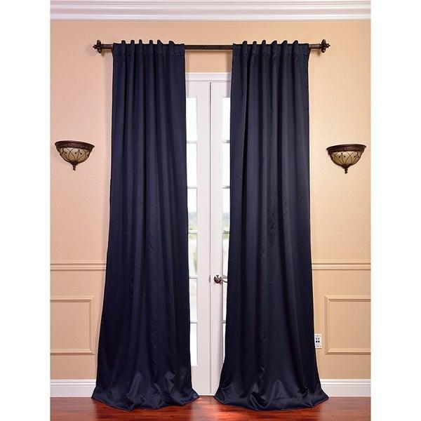 Navy Blue Velvet Blackout Curtains - Best Curtains 2017