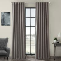 Exclusive Fabrics Grey Thermal Blackout Curtain Panel Pair