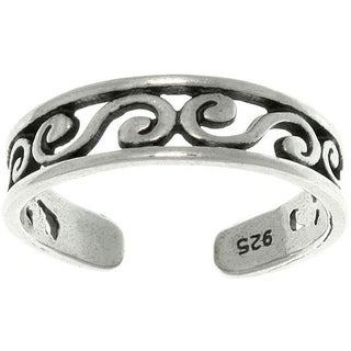 Filigree Design Sterling Silver Adjustable Toe Ring
