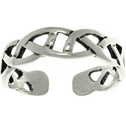 Carolina Glamour Collection Celtic Triangle Knot Sterling Silver Adjustable Toe Ring