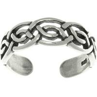 Celtic Round Knot Sterling Silver Adjustable Toe Ring