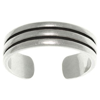 Carolina Glamour Collection Triple Row Sterling Silver Adjustable Toe Ring