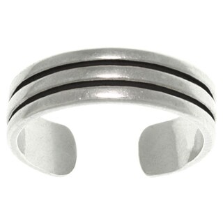 Triple Row Sterling Silver Adjustable Toe Ring