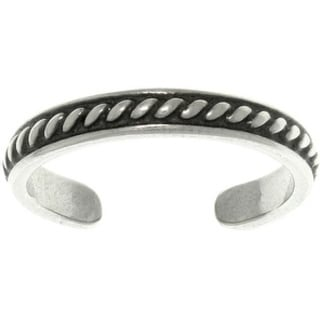 Thin Beaded Sterling Silver Adjustable Toe Ring