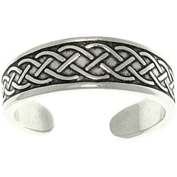 Carolina Glamour Collection Celtic Rope Sterling Silver Adjustable Toe Ring