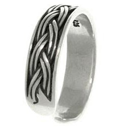 Carolina Glamour Collection Weaved Sterling Silver Adjustable Toe Ring