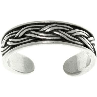 Weaved Sterling Silver Adjustable Toe Ring