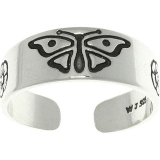 Butterfly Sterling Silver Adjustable Toe Ring