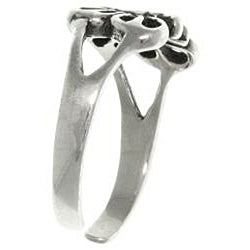 Carolina Glamour Collection Open Butterfly Sterling Silver Adjustable Toe Ring - Thumbnail 1