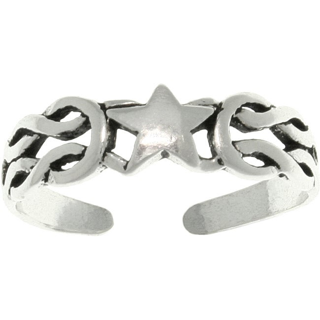 Carolina Glamour Collection Celtic Star Sterling Silver Adjustable Toe Ring