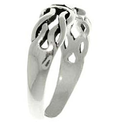 Carolina Glamour Collection Celtic Star Sterling Silver Adjustable Toe Ring - Thumbnail 1