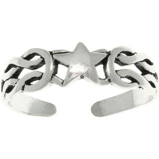 Celtic Star Sterling Silver Adjustable Toe Ring