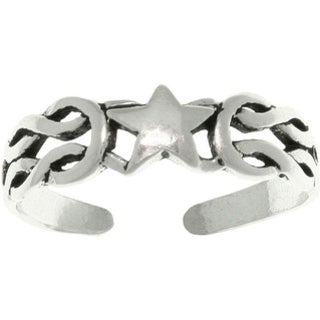 Celtic Star Sterling Silver Adjustable Toe Ring