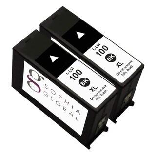 Lexmark 100XL Compatible Black Ink Cartridge (Pack of 2)
