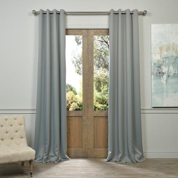 Shop Exclusive Fabrics Grey Grommet Thermal Blackout