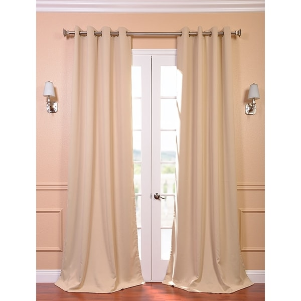 Exclusive Fabrics Biscotti Tan Thermal Blackout 108-inch Curtain Panel Pair