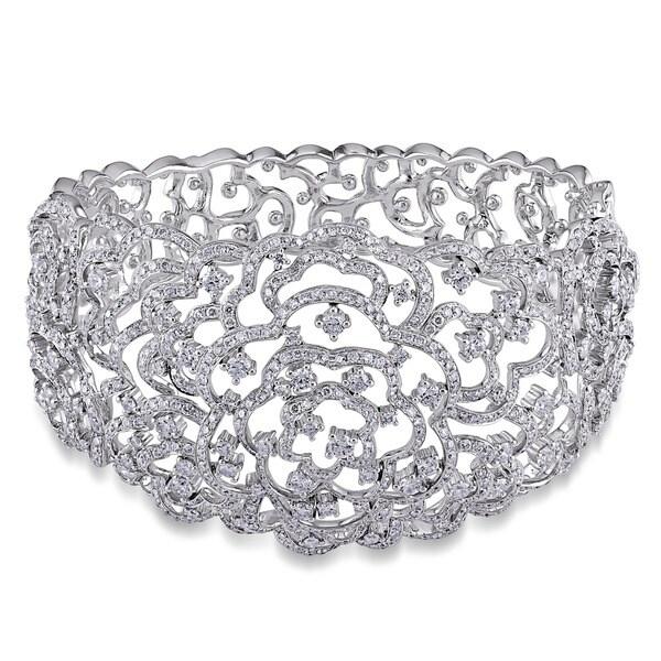 Miadora Signature Collection 14k Gold 8 1/8ct TDW Vintage Diamond Bracelet (G-H, I1-I2)