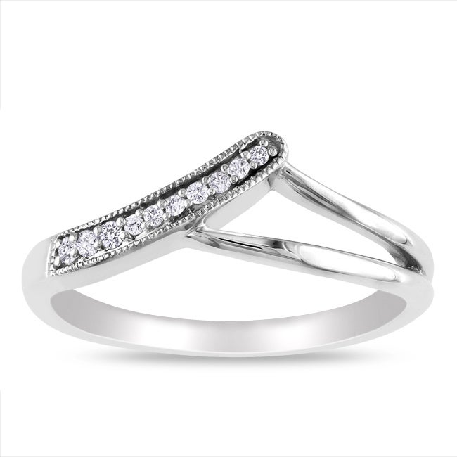 Miadora Sterling Silver Diamond Accent  Ring - Thumbnail 0