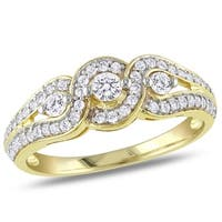 Miadora 14k Yellow Gold 1/2ct TDW Diamond Engagement Ring
