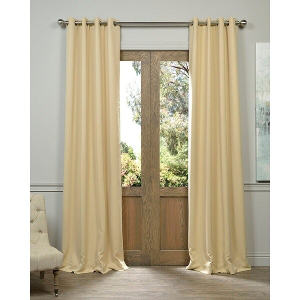 Exclusive Fabrics Biscotti Thermal Blackout Curtain Panel Pair