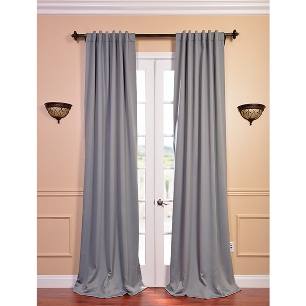 Exclusive Fabrics Grey Thermal Blackout 108-inch Curtain Panel Pair