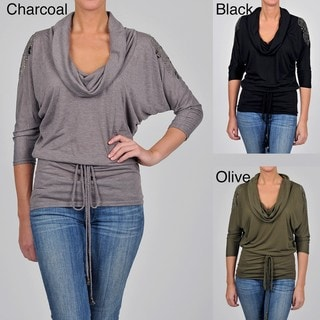 Simply Irresistible Women's Drape Neck Belted Tunic