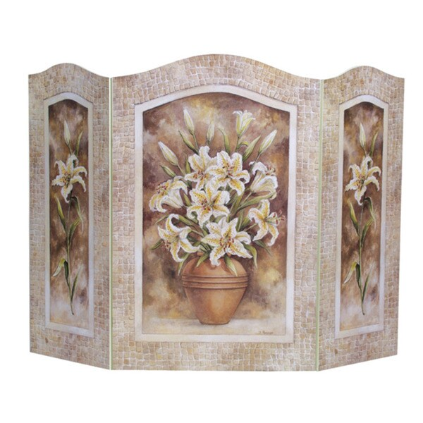Decorative Wood Screens ~ Lilies fire screen free shipping today overstock