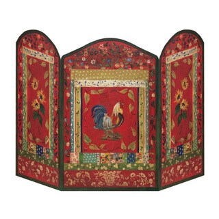 Rooster Fire Screen