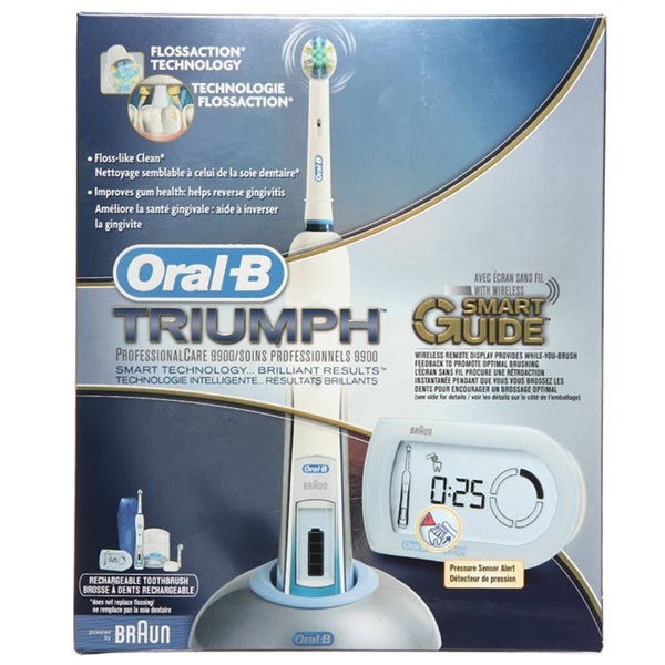 Oral B Triumph 9900 Toothbrush With Smart Guide Free Shipping Today Overstock Com 13960670
